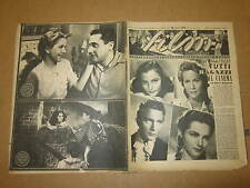 FILM RIVISTA DI CINEMA TEATRO E RADIO ANNO 1942 N°43 PAOLO STOPPA LILLA SILVI