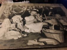 Two Lg.Vintage Pictures Of Child & Toys One Of A Kind Original