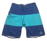 Volcom Mens Boardshorts Size 30 Blue Green Swim Trunks Beach