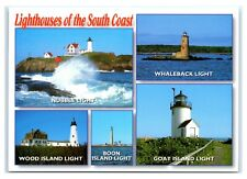 Postcard Lighthouse York, Kittery, Cape Neddick, Porpoise Maine Me Ms151B