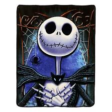 "Nightmare Before Christmas Jack Skellington Micro Blanket 46"" x 60''  Plush Soft"