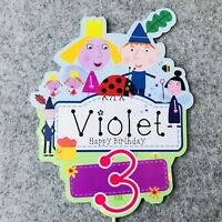 Ben And Holly PERSONALISED Cake Topper.  Lolly Loot Bag Party Supplies Bunting