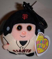 Ty Beanie Ballz ~ SAN FRANCISCO GIANTS (Key Clip ~ 2.5 inch) ~ MLB Baseball ~NEW