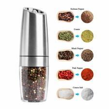 Gravity Electric Pepper Grinder Salt Grinder Mill Battery Powered Salt Shakers