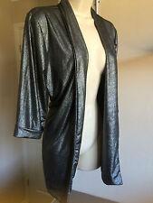 Bnwt Boohoo 'Nina' Metallic Glittery Roll Cuff Relaxed Blazer/Jacket UK Size 12