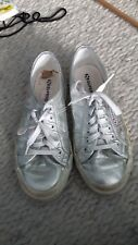 Superga silver women's trainers size 6 UK 39.5 EU great condition