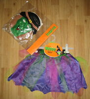 WITCH'S COSTUME HALLOWEEN tutu SUIT new age 4-7 YEARS Ladybird