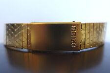 NOS SEIKO BASE METAL VINTAGE DEPLOYMENT CLASP 18mm WATCH BAND GOLD TONE 80'SDOTS