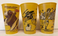 Vintage 1980 Mcdonaldland Adventure Series McDonalds Yellow Cup lot of 3