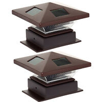 "WESTINGHOUSE NEW 4"" x 4"" Pagoda II Solar LED Post Light (2 Pack)"