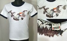 Vintage 80s American Eagle Graphic T Shirt Mens Size S Screen Stars Ringer Tee