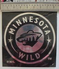 Minnesota Wild Lic. Hockey Sticker NHL Quality Chrome Window Decal MADE USA