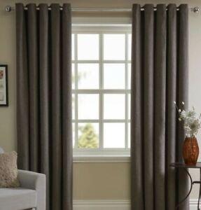 wilko black charcoal faux wool curtains 167 w x 137cm d