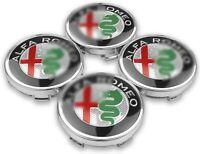 X4 CACHE MOYEU JANTE CENTRE DE ROUE POUR ALFA ROMEO 60MM QUALITE ORIGINALE
