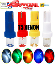 UPTO 10X T5 W3W W1.2W Super Bright Xenon Led Wedge Gauge Dashboard Lamps 12V
