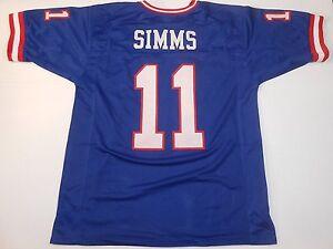 UNSIGNED CUSTOM Sewn Stitched Phil Simms Blue Jersey - M, L, XL, 2XL, 3XL