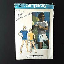 Simplicity 7550 70s Size 40 Chest 34 Waist UNCUT Mens Swim Trunks & Knit Tops