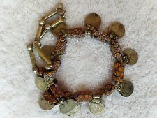 Moroccan Necklace Silver beads Berber Tribe handmade by rare African stones coin