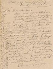 critique musical Raymond Bouyer lettre autographe signée Beethoven Malherbe 1906