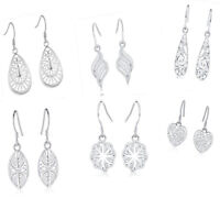 wholesale 6pair set 925 silver for women charms lady wedding Earrings jewelry