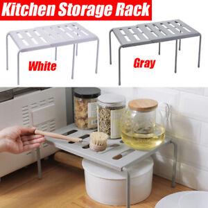 2 Tier Corner Kitchen Plate Rack Cupboard Shelf Insert Organiser Holder Storage