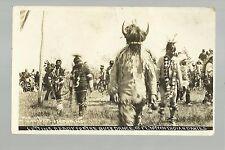 Fort Totten NORTH DAKOTA RP c1910 SIOUX INDIANS Indian BUCK DANCE nr Devils Lake