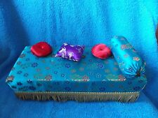 Barbie FR Doll  Sofa-Couch-Bed  4 Pillows  Oriental Fabric  Diorama