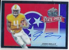 JOHN KELLY - 2018 Leaf Metal Black State Pride AUTO 1/7 - Tenn - Rams RC