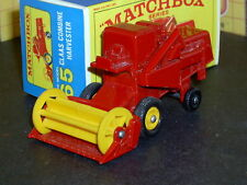 Matchbox Lesney Claas Combine Harvester 65 c1 red yellow SC2 NM & crafted box