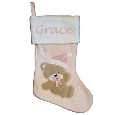 Baby Girl Pink Personalised Stocking Custom Name Xmas Stockings Christmas stg030
