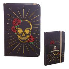 Cráneo con Rosas Notebook-A6 tapa dura forrada de papel-envío mismo día