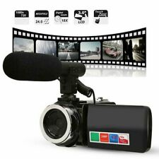 Digital Camera 1080P Video 18X ZOOM 24MP DV Camcorder Recorder with Microphone