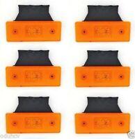 6x Marcador Del Lado Trasero 6 Leds Naranja Luces con Soporte 12V Trailer Camión