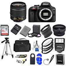 Nikon D3400DSLR Camera w/ VR AF-P 18-55MM+ 32GB VALUE BUNDLE * Brand New*