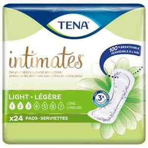 TENA INTIMATES, ULTRA THINS, LIGHT, LONG PANTILINERS/PADS 24CT PACK 90 AVAILABLE