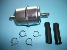 "Fuel Filter Universal Inline Metal 5/16"" with clamps and hose In-Line 5/16 Inch"