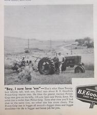 1955 B F Goodrich Tire  Ad Photo Endorsement Hans Tennigkeit of Persia, Iowa