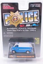 Racing Champions Police USA 1975 Chevy Van Prince Williams County VA