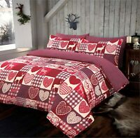 Patchwork Woodland Stag Duvet Quilt Cover Bedding Set With Pillow Case All Size