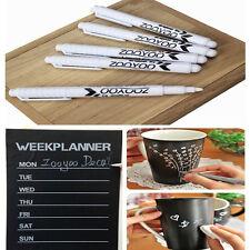 3Pcs White Liquid Chalk Pen 4mm Marker For Glass Window Chalkboard Blackboard