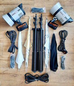 ❤ Prolinca 125/250 Flash Head Photo Studio Lighting Kit (Perfect Start Up Set)👌