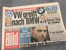 Bildzeitung vom 13.02.1999 * 19. 20. Geburtstag Geschenk * BMW * VW `* Clinton