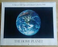 Sierra Club Special Editon Calendar 1991 The Home Planet EXTREMELY RARE