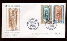 Niger - Enveloppe FDC 1964 -Monuments de Nubie - O 284