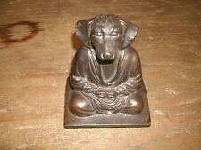 """5"""" Brass Seated Dog Figurine"""