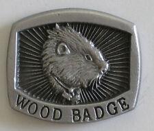 Woodbadge Pewter Wood Badge Pin - Beaver