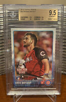 BGS 9.5 KRIS BRYANT ROOKIE!! 2015 TOPPS UPDATE #US78 CUBS ROY, MVP GEM MINT RC!