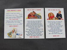 3 Bamforth Comic Series Drawn Postcards Taylor etc