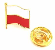 Poland Flag Enamel Lapel Pin Badge T1131