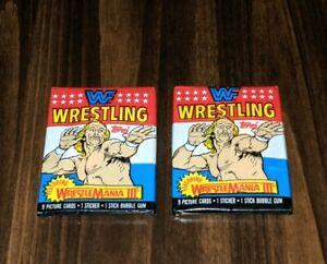 1987 WWF Wrestlemania 3 III Wrestling Cards Lot Of 2 Sealed Packs Hulk Hogan